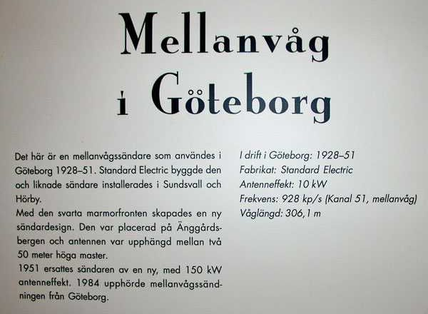 Bilder från Motala Rundradiomuseum         Bilder: Lars Lindskog
