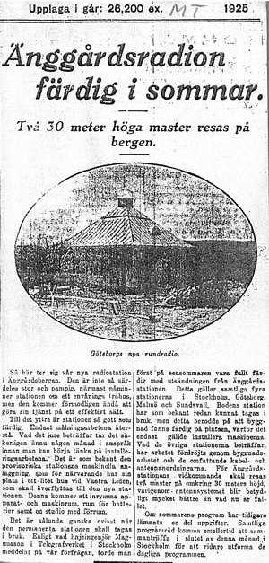 Okänd tidningen våren 1925