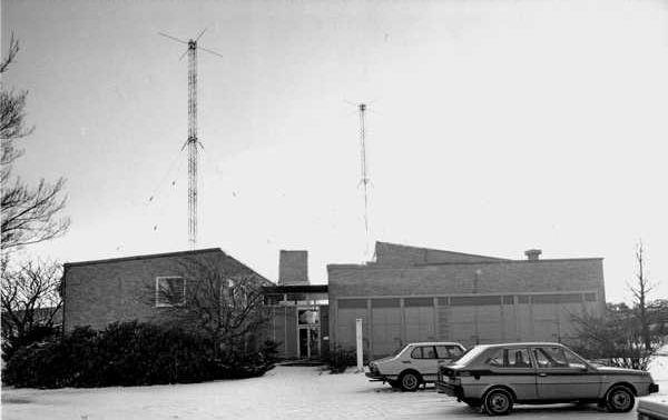 Bild från entrén till sändaren       Bild: Tekniska museet