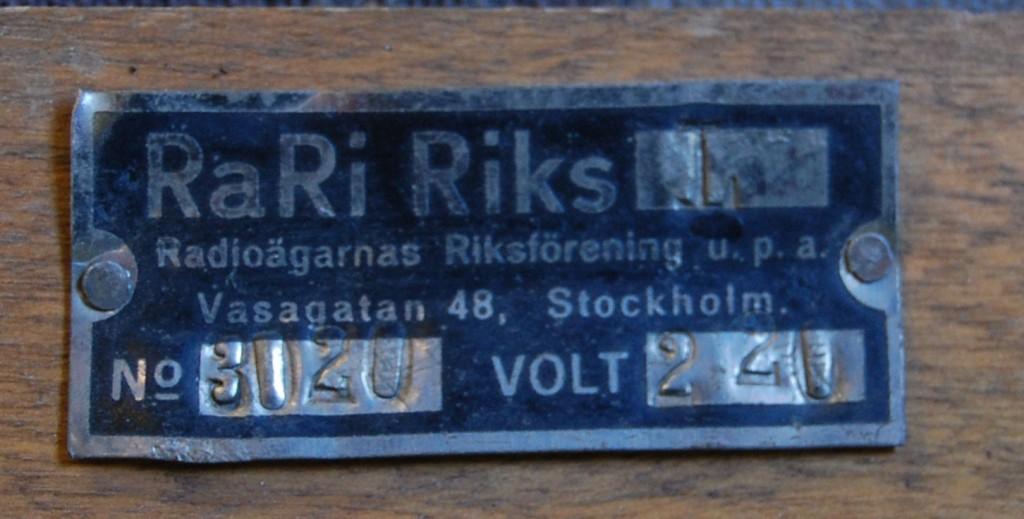 RaRi Riks L skylt