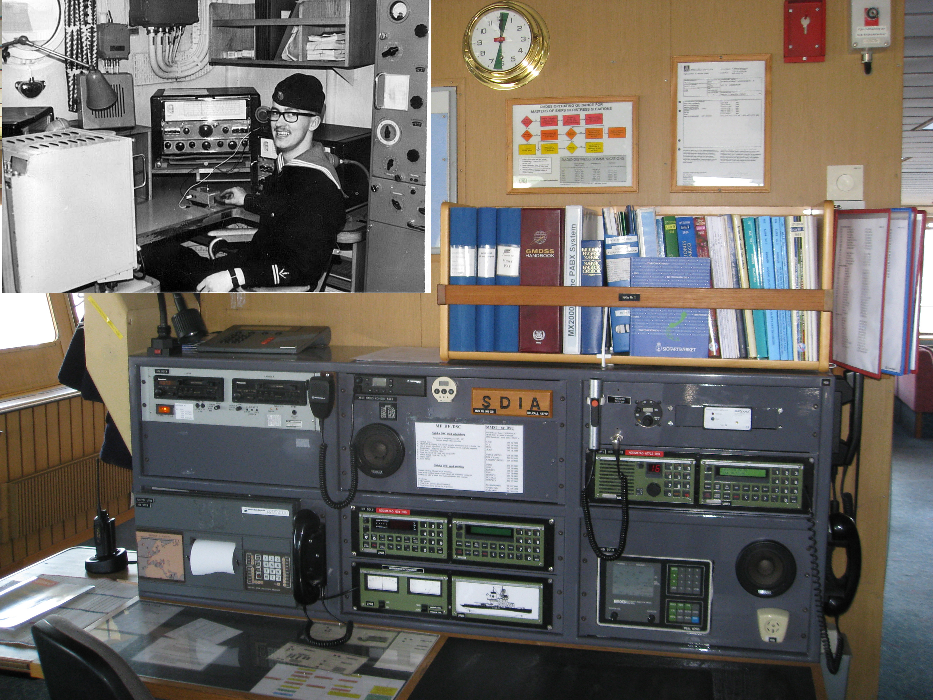 jämförande radiohytt gamla och nya isbrytaren Oden